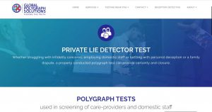 SEO copywriting for a UK-based firm of lie detectors